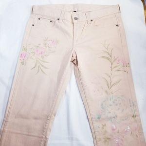 Ralph Lauren Women's Flower Jeans Sz 30 NWT